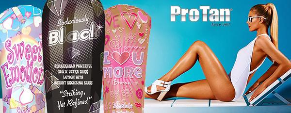 Красивый дизайн бутылок - фишка компании Pro Tan