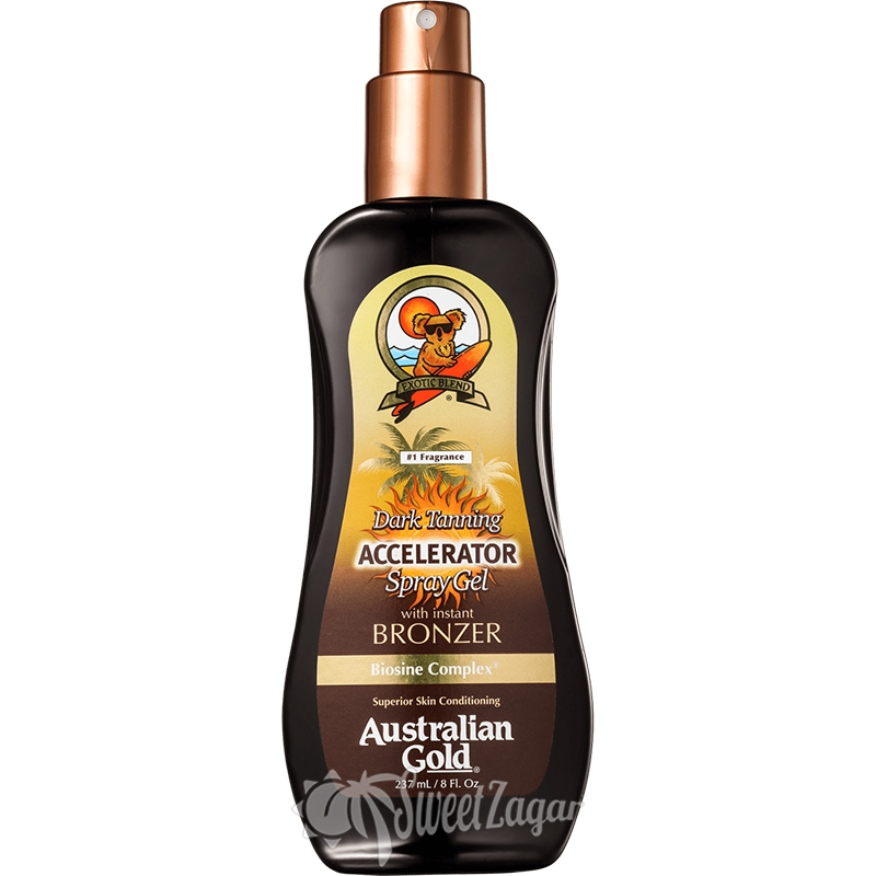 Accelerator Spray Gel with Bronzers
