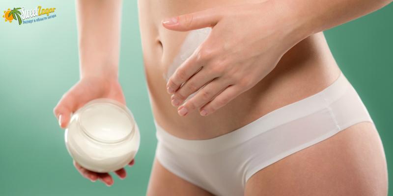 Процесс нанесения крема - маленький массаж